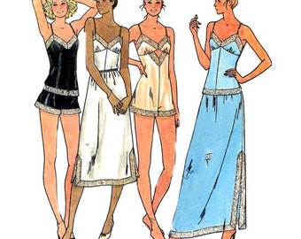 Vintage 1980s, Butterick 6361, lingerie, sewing pattern, Bust 34/Euro 40.