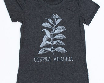 Coffea Arabica WOMENS T-Shirt  -  Available in sizes S M L XL and two colors  - coffee cafe triblend