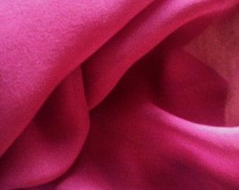 Burgundy Fuchsia 100% Silk Chiffon Fabric