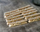 Rose Gold Glitter Clothespins - clothes pins - Decorations for weddings - place cards, favors, escort cards, wishing tree, packageing