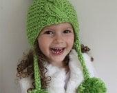 KNITTING PATTERN- Pom Pom Hat (Toddler, Child and Adult sizes) PDF