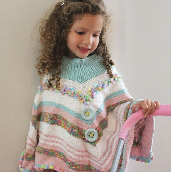 KNITTING PATTERN Fun Toddler Poncho pdf file