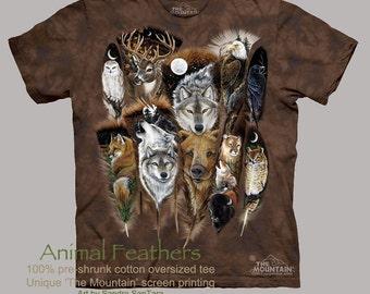 Animal Feathers tee
