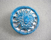 Sun goddess button large shank button for sewing or knitting