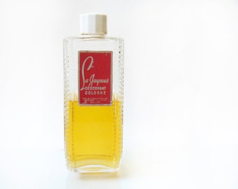 Vintage La Jaynee's Deodorant Cologne By W. T. Rawleigh, 4 Fl. Oz. - Rare - Original Formula - white celluloid lid, 1950s - 50% full