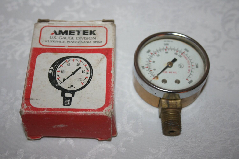 Vintage steampunk ametek gauge us gauge division high pressure - Steampunk pressure gauge ...