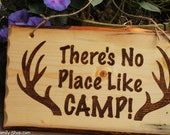 Rustic Wood Camp Sign, Welcome Plaque, Deer, Hunting, Cabin Decor