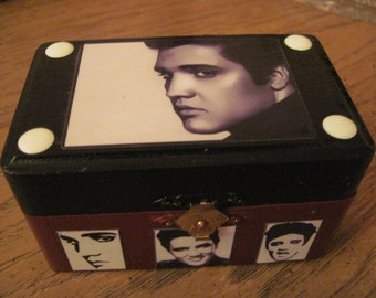 Elvis Presley Hand Crafted Decoupaged Keepsake Jewelry Box