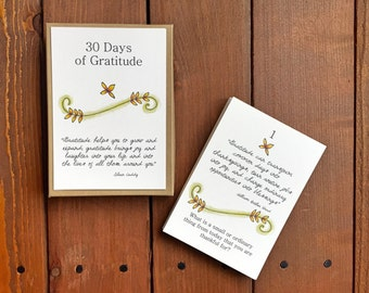 30 Days of Gratitude - Mindfulness Activity - Quote Cards - Gratitude Activity - Dinner Table Activities