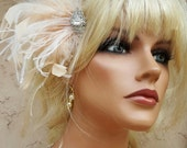 Hair Accessories, Bridal Hair Clip, Feather Hair Clip,Gatsby Style, Bridal Comb, Bridal Hair Accessory, Wedding Hair Clip, Feather Hair