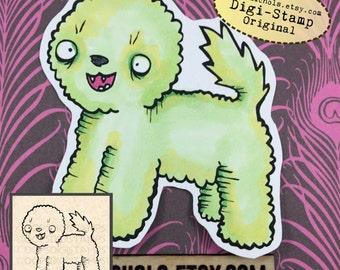 Bichon Frise Digital Stamp - Cute dog Digital Stamp - Digistamp - Coloring Pages - Printable Sticker - Clip Art - Printables