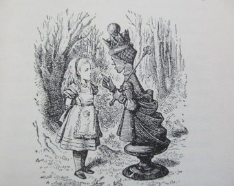 vintage Through the Looking Glass and What Alice Found There -Lewis Carroll, John Tenniel,  Random House