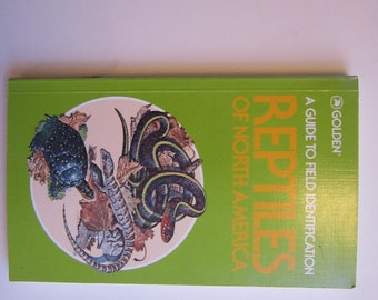 vintage book - REPTILES of North America - GOLDEN - A Guide to Field Identification 1982