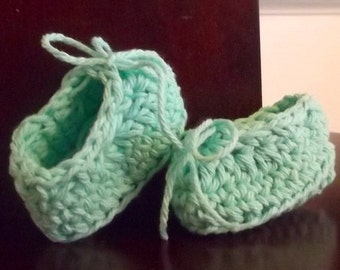 Baby Slipper....New Color....Beach Glass...Soft Mint Green...Newborn size...Baby Boy...Baby Girl....Perfect Gift..Comfy....READY To SHIP