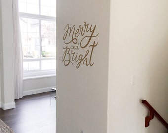 Vinyl Wall Sticker Decal Art - Merry and Bright