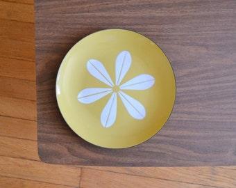 "vintage midcentury modern olive green cathrineholm lotus plate - 10 1/4"""