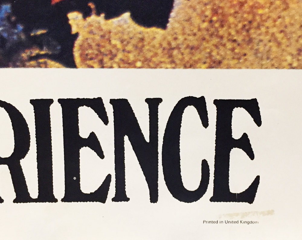 "Vintage Jimi Hendrix 15.1.69 Mittwoch 20 Uhr Beethovensaal Stuttgart Germany Psychadelic Large Rock Poster 38"" X 54"", Printed in UK"