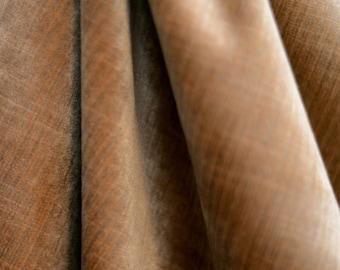 Gold Velvet Upholstery Fabric Stria