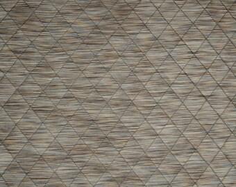Blue And Brown Stria Curtain Fabric Pintuck Diamond Design Fusion Aqua