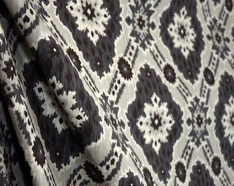Grey Ikat Fabric Microfibre Sumatra