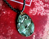 Rustic Jewelry, Mixed Metals , Silver , Copper, Dogwood Flower, Pendant