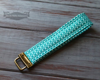 Teal Cotton + Steel Netorious Key Fob key chain