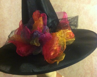Rainbow Glam Witch Hat - Costume Witch Hat