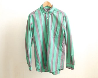 vintage STRIPED oxford normcore oversize GRUNGE men's shirt