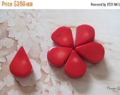 20% OFF ON SALE 20 pcs Red Bamboo Coral Briolette 12mmx18mm Beads