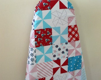 Ironing Board Cover - patchwork look pastels - SALE