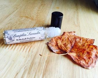 Pumpkin Lavender Perfume Oil, vegan perfume, roll on perfume, unusual perfume, fall perfume, autumn perfume, aphrodisiac perfume