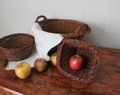 3 Wicker Basket Set