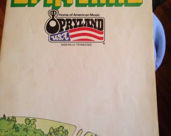 Vintage Opryland USA Illustrated Map Nashville Tennessee