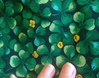 Clover Shamrock Fabric Lucky Irish Four Leaf Cotton Quilting