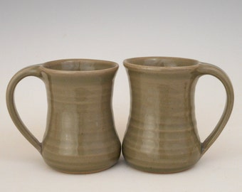 Pair of Celadon Mugs
