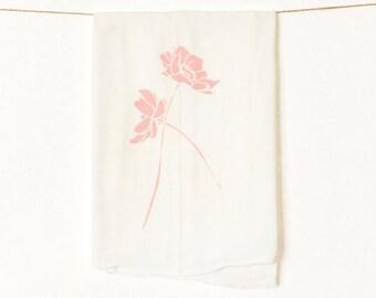 Wild Geranium Flour Sack Kitchen Towel