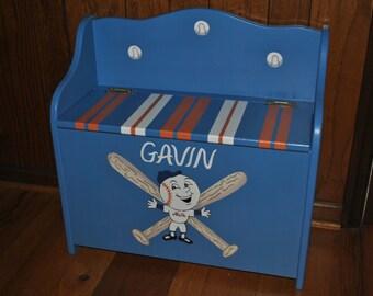 Mets - Toy Chest Bench - Toy Box - Kids - Furniture - Children