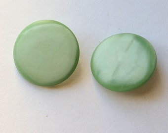 Buttons Vintage Pair of Satin-Finish Green Buttons