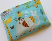 Reusable Sandwich and/or Snack Bag Zoo Friends