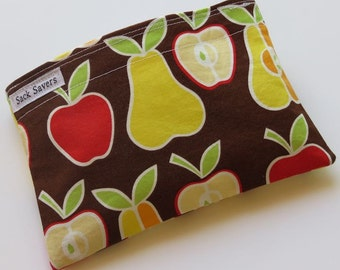 Reusable Sandwich and/or Snack Bag Apples Pears Fruit