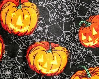 Spider Webs and Jack-O-Lanterns Halloween Pillowcase