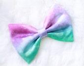 Mini Pastel Galaxy Hair Bow