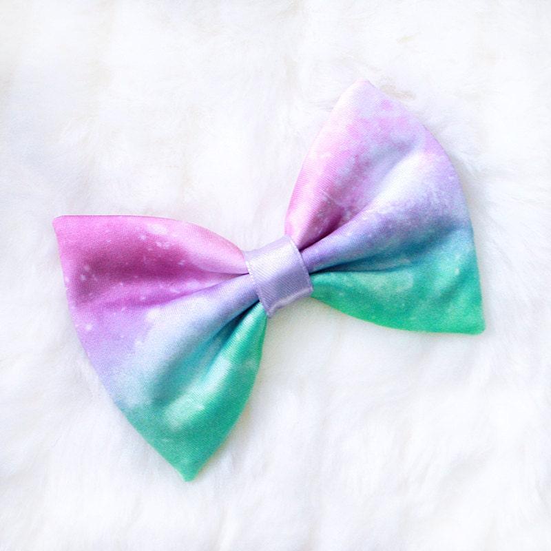 Mini pastel galaxy hair bow by starryeyedbowtique on etsy for Pastel galaxy fabric