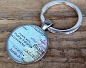 puerta vallarta vintage map keychain   1983 Rand McNally College World Atlas   Puerta Vallarta Mexico   geography   traveler