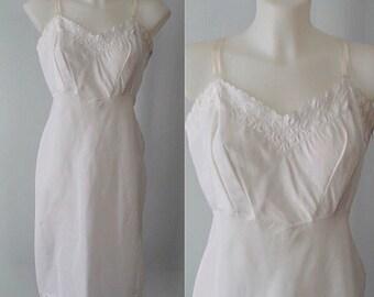 Vintage Slip, Vintage Full Slip, 1960s Slips, 1960s Barbizon, Tafredda White Slip, White Full Slip, Wedding, Lingerie