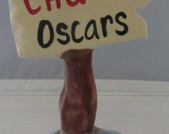 Ceramic Aquarium Sign ~ Caution Oscars ~