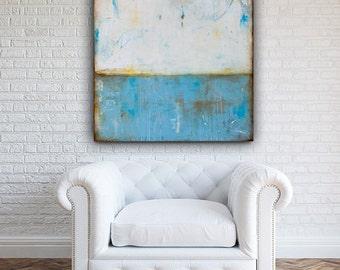 Serene Large canvas landscape painting 36x36 art