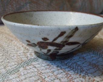 Brown Japanese Bowl, Vintage Japanese Dish