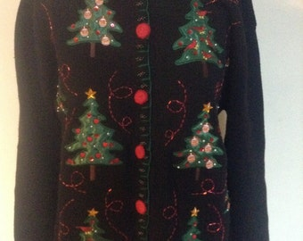 Vintage Ugly Christmas Sweater /Christmas Sweater By Editions Holiday sz M