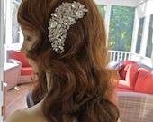 Wedding Hair Comb, Crystal Hair Comb,Crystal Hair Clip, Bridal Statement Headpiece, Bridal Statement Comb, Bridal Hair Jewelry